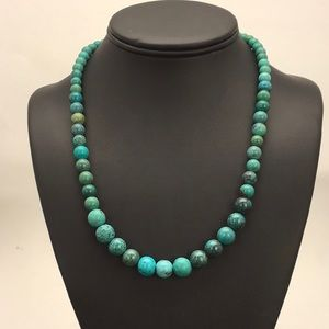 Jewelry - Spider web turquoise necklace